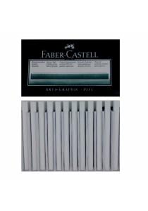 F.Castel 128401 Pitt Charcoal (White - Medium) 12s