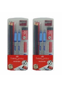 Faber-Castell 2B Exam Gred & Pen Set wth Box (Set of 2)-211140