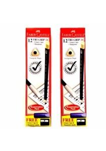 Faber-Castell 12-Tri Grip 2B Pencil 111823-2B (set of 2)