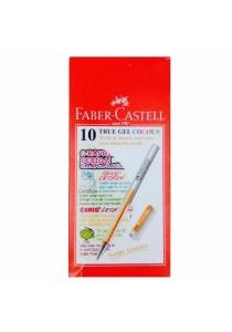 Faber-Castell True Gel Pen 0.7mm Box of 10 (Orange)-242615