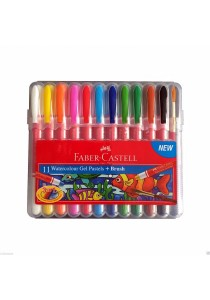 Faber-Castell 11 Watercolour Gel Pastels + Brush - 121226