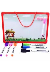 Fancy White Board (20x30)cm with White Board Marker Set (Red)