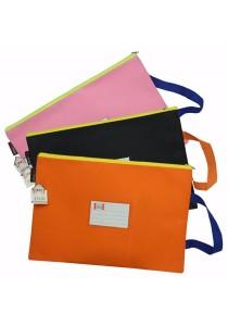 HengPu Storage Bag with Handle (Set Of 3) Light Pink, Black & Orange - HP3001