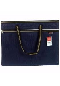 HengPu A3 Storage Bag Double Zip with Handle Dark Blue - HP7911