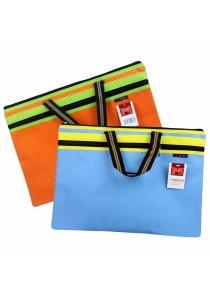 HengPu Storage Bag Double Zip with Handle (Set Of 2) Light Blue & Orange - HP9908