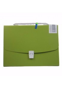 Kobest A4 Expanding File Bright Colour Design Green 13s - F8083