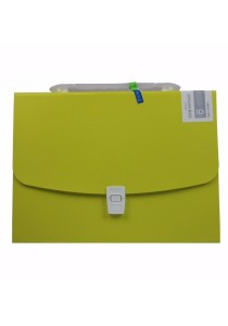 Kobest A4 Expanding File Bright Colour Design Yellow 13s - F8083
