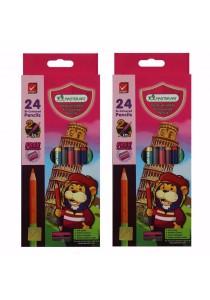 MasterArt Premium Grade Bi-Coloured Pencils 2in1 Set of 2 12/24 Colours-199470