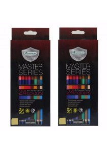 MasterArt Master Series Bi-Coloured Pencils 2in1 (3.3mm) Set of 2 12/24 Colours-201029