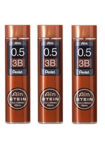 Pentel Ain Stein Refill Lead 3B (0.5 x 60mm x 40pcs) Set of 3-C275-3B