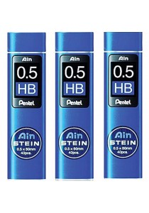 Pentel Ain Stein Refill Lead HB (0.5 x 60mm x 40pcs) Set of 3-C275-HB
