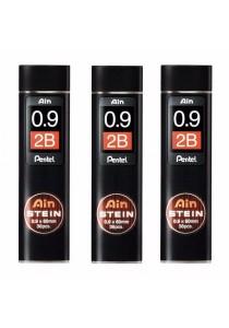 Pentel Ain Stein Refill Lead 2B (0.9 x 60mm x 36pcs) Set of 3-C279-2B