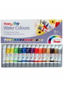 Pentel Arts Water Colours 15 Kolorow 5ml - WFRS15