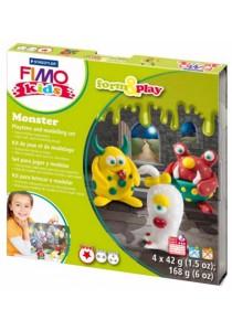 Staedtler 893411 FIMO Kids Form & Play 42g 4pcs - Monster