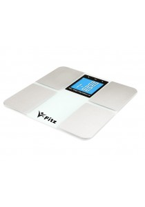 V-Fitz BMI Scale Body Fat Composition [More Function] LCD Scale (White)