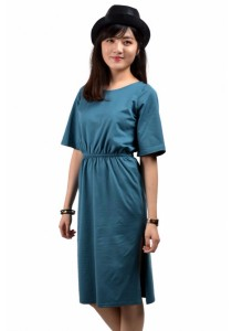 VIQ Open Slit Casual Dress (Blue) - Fashion Wear New Collection