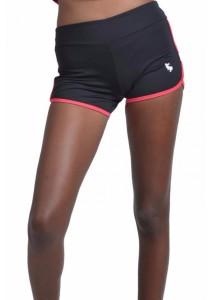 VIQ Active Sports Shorts (Black Red) - Ladies Short Pants