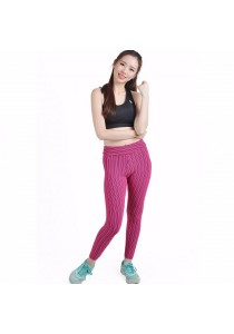 VIQ Yoga Tight Pants (Purple Stirpe)