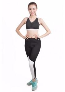 VIQ Contrast Yoga Pants - Extra Compact (White)