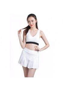 VIQ Pleated Sports Skort (White)