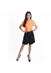 VIQ Drop Shoulder Top (Orange)