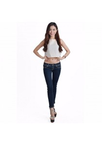 VIQ Sleeveless Woven Lace Top (Cream)