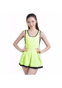 VIQ Flared Tennis Dress (Highlight Green)