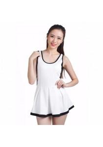 VIQ Flared Tennis Dress (White)