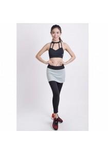 VIQ Workout Skirt Legging (Light Grey)