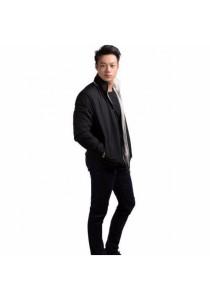 VIQ Men Reversible Jacket (Black-Cream)