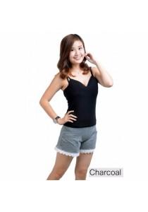 VIQ Lace Short Pants (Charcoal)