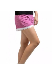 VIQ Lace Short Pants (Maroon)