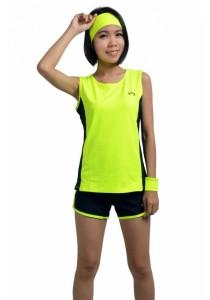 VIQ Ladies Running Vest (Highlight Green)