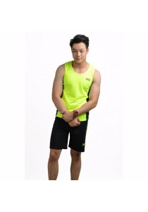 VIQ Mens Running Set (Hightlight Green)- XL