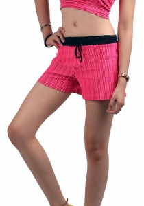 VIQ Ladies Sport Stripe Short (Black Stripe)