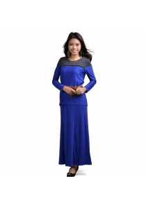 VIQ Muslim Top+Skirt (Royal Blue)