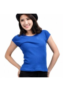 VIQ Ladies Slim Effect Tee (Blue)