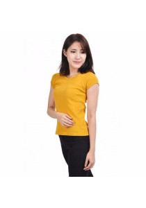 VIQ Ladies Slim Effect Tee (Yellow)