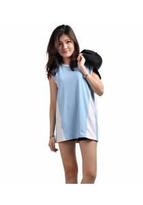 VIQ Oversize Sports Top (Light Blue)