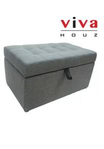 VIVA HOUZ - COZY Storage Ottoman (Grey)