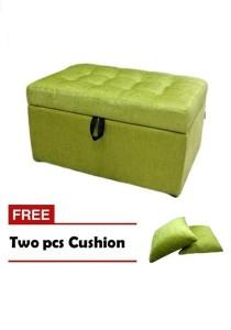 VIVA HOUZ - EVO Storage Ottoman / Bench / Sofa - Apple Green