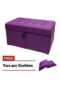 VIVA HOUZ - EVO Storage Ottoman / Bench / Sofa - Fancy Purple