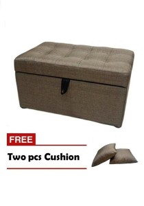 VIVA HOUZ - EVO Storage Ottoman / Bench / Sofa - Walnut Brown