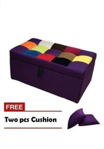 VIVA HOUZ - LUCIA Storage Ottoman / Bench / Sofa - Fancy Purple