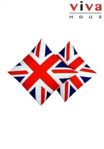 U.K. Flag Themed Cushions (2 Pcs)
