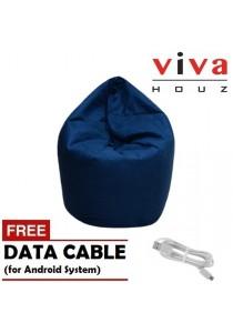 Viva Houz Wow Bean Bag (XL) (Free Random Android / iOS cable)