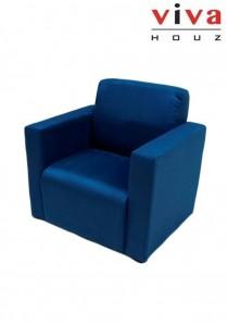 Viva Houz Wow Kids Arm Chair / Sofa - Navy Blue