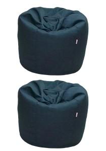 2 Units XL Bean Bag with 2 Pillows (Black)
