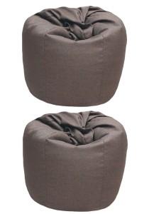 2 Units XL Bean Bag with 2 Pillows (Brown)
