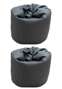 2 Units XL Bean Bag with 2 Pillows (Grey)
